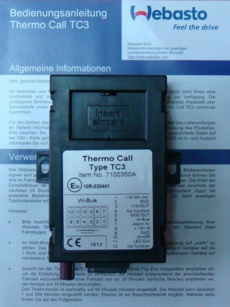 Webasto GSM Thermo Call 3