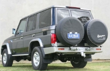 Бампер задний Kaymar на Toyota Land Cruiser 76KIT